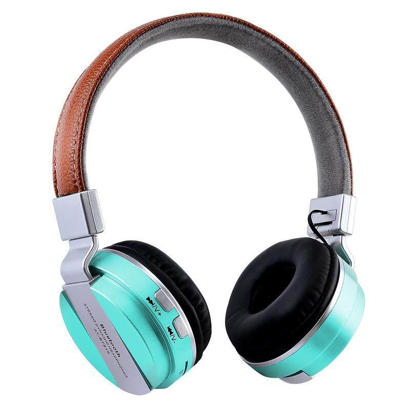 Stereo Nirkabel Bluetooth Headphone Lipat Earpohone EDR MIC MP9 Headset FM untuk Smartphone Tablet