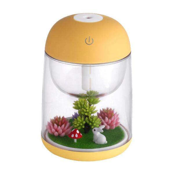 leegoal Aromatherapy Micro-Landscape Humidifier USB Essential Oil Diffuser, Aolvo 180ml Ultrasonic Waterless Auto Shut-Off, Whisper Quiet Humidifier Nightlight [Colorful Lights ,2 Timer Settings] Yellow Singapore