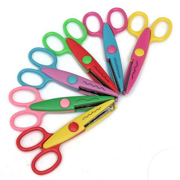 6pcs Creative Crafts Arts Cut Picture Photo Paper Edging Scissors Assorted Design Decorative
