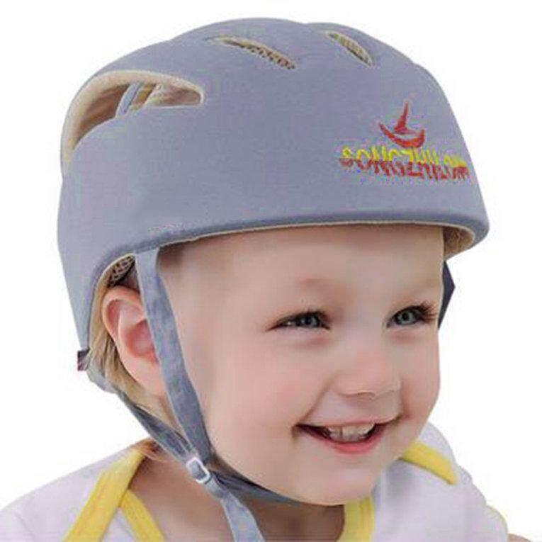 Bayi Helm Keselamatan Kapas Topi Pelindung Bayi Headguard Yg Tahan Pukulan-Intl