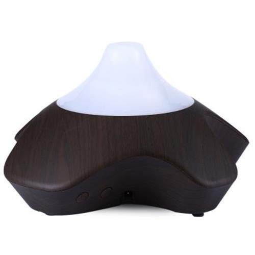 GX DIFFUSER GX - 08K ULTRASONIC LED MINI PERFUME AROMA DIFFUSER AROMATHERAPY ESSENTIAL OIL AIR HUMIDIFIER PURIFIER FOR HOME OFFICE (DEEP BROWN)