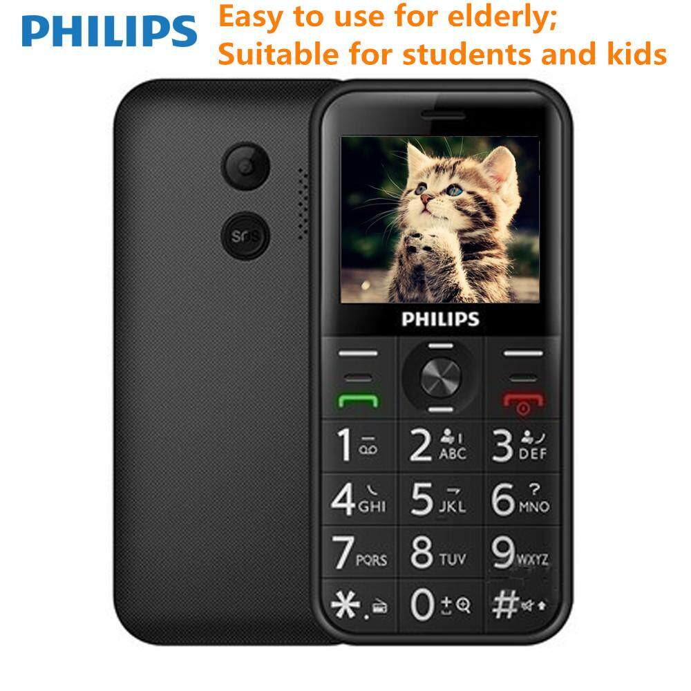 Philips E163K Dual SIM Long Standby 2G Feature Elder Phone For Elderly Students Kids With 24MB RAM, 32MB ROM