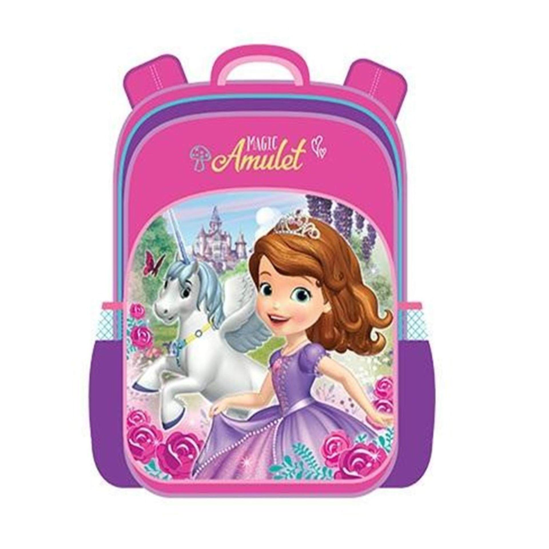 Disney Princess Sofia Pre School Backpack Kindergarten Nursery Kids Children School Bag - Pink Colour