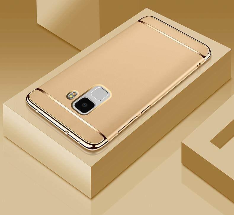 Galaxy A8 2018 Mewah Menyepuh Dgn Listrik Shockproof Kembali Casing Kover untuk Samsung Galaxy A8 2018