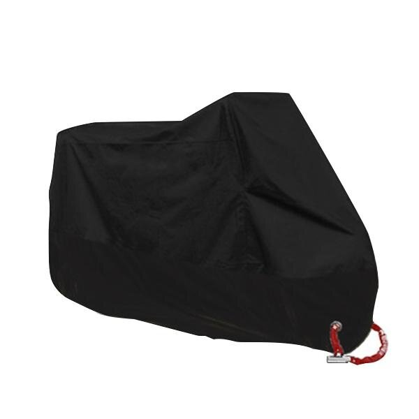 Motorcycle Cover Outdoor Uv Protector Bike M/L/XL/XXL/3XL/4XL A2123 (Black) L - intl