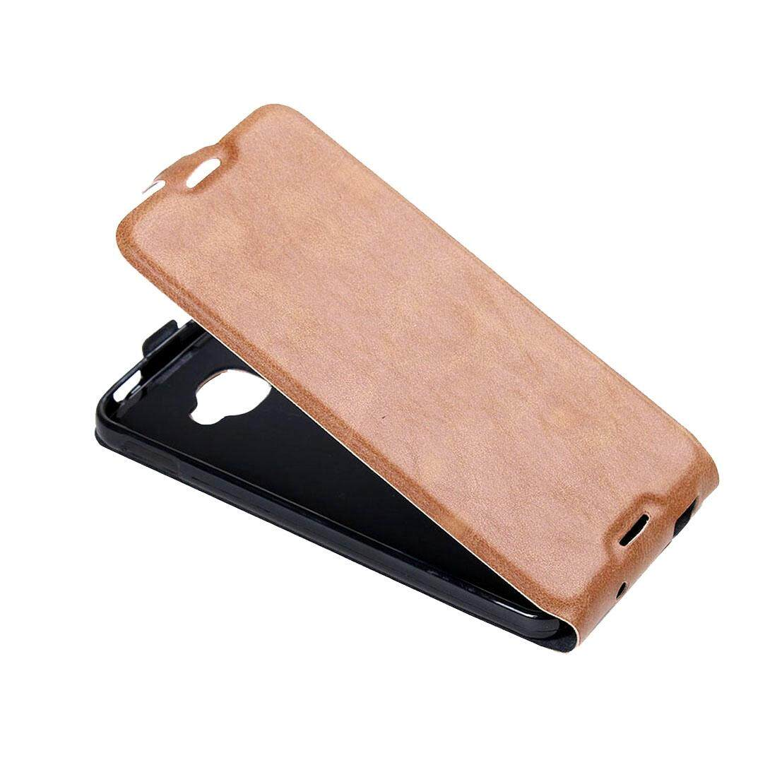 For Alcatel Idol 4S Vertical Flip Leather Case with Card Slot & Photo Frame(Brown) - intl