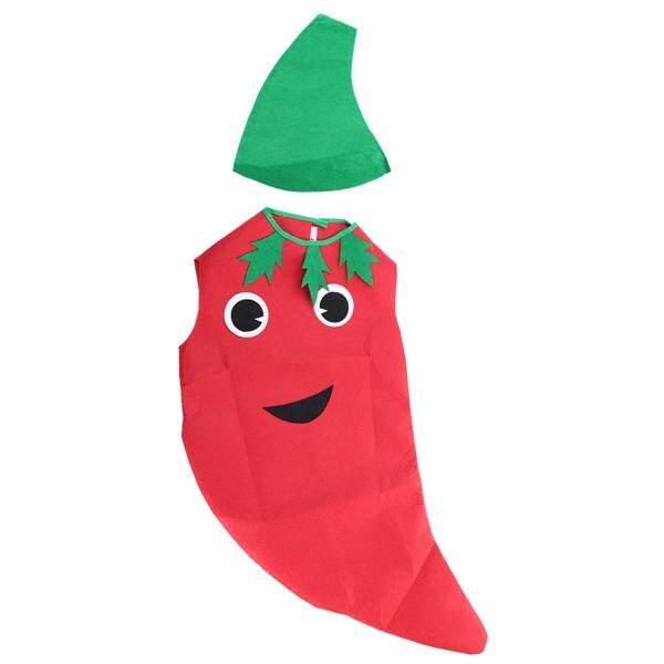 เด็กผักผลไม้เครื่องแต่งกายเด็กเสื้อผ้าเครื่องแต่งกายสำหรับวันฮาโลวีนคอสเพลย์คริสต์มาสวันหยุด (พริกไทย) By Pickegg.