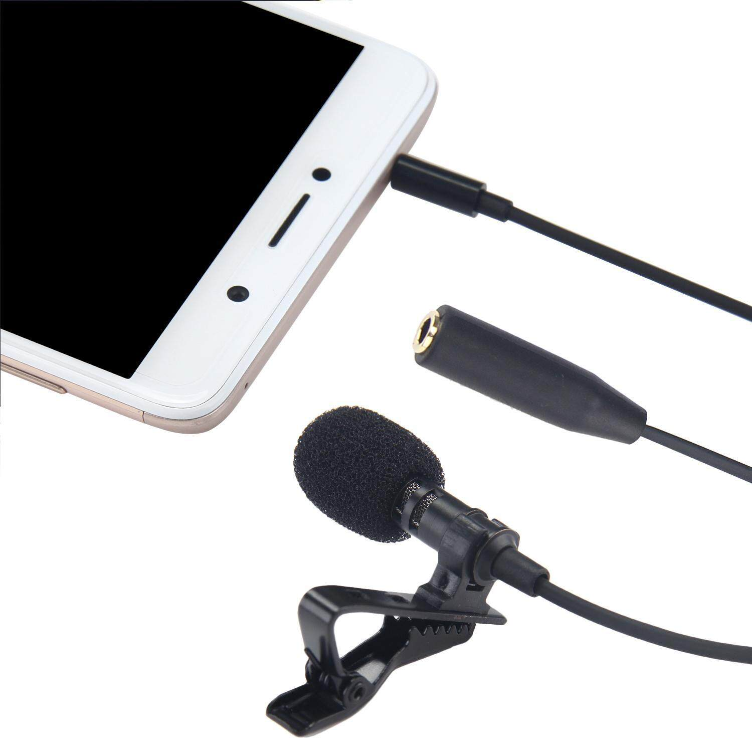 Teekeer Lavalier Lapel Microphone Clip-on Omnidirectional Condenser Mic For Apple IPhone, IPad, IPod Touch, Samsung Windows Devices