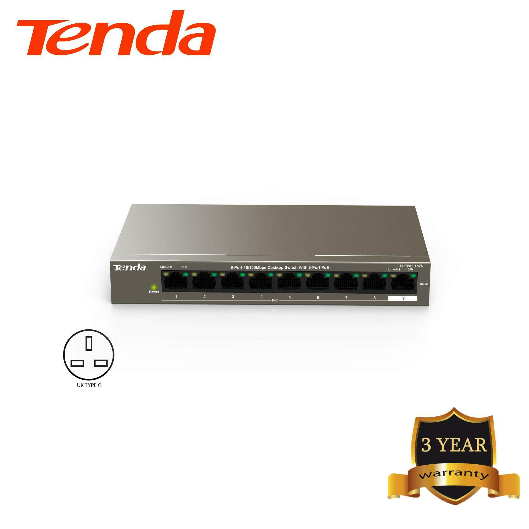Tenda TEF1109P-8-63W 9-port 10/100M Desktop Switch