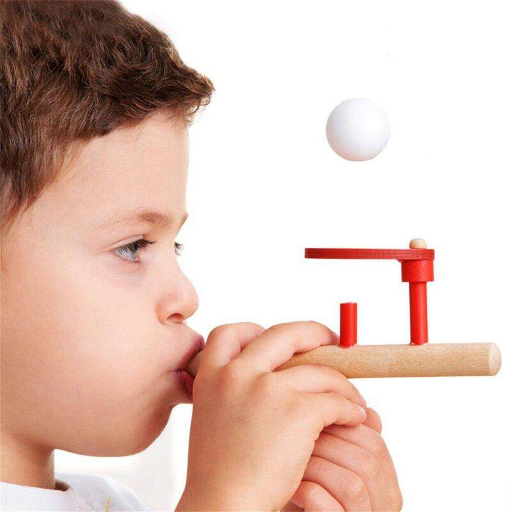 Hình ảnh Yika Montessori Materials Baby Wooden Blow Hobbies Fun Sports Toy Ball