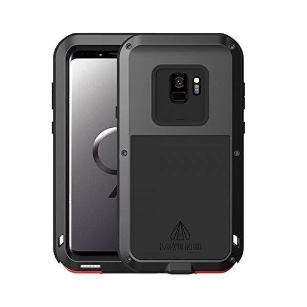 Samsung Galaxy S9 Case,Bpowe Super Shockproof Silicone Aluminum Metal Armor Tank Heavy Duty sturdy Protector Cover Hard Case for Samsung Galaxy S9 5.8inch (Black) - intl