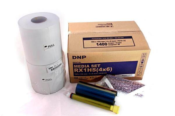 DNP RX1 HS Media Set - 4X6 (Ribbon and Roll Paper)