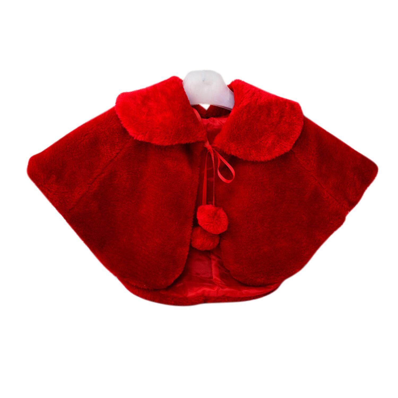 Sihir Cube Perempuan 'S Musim Dingin Tiruan Bulu Bolero Jaket Putri Cape Bahu Mantel Bridesmaid Selendang dengan Lucu Pompons-Internasional