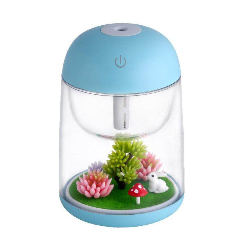 leegoal Aromatherapy Micro-Landscape Humidifier USB Essential Oil Diffuser, Aolvo 180ml Ultrasonic Waterless Auto Shut-Off, Whisper Quiet Humidifier Nightlight [Colorful Lights ,2 Timer Settings] Blue Singapore