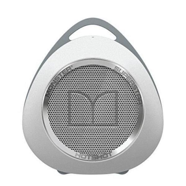 Monster SuperStar HotShot Portable Bluetooth Speaker, White/Chrome - intl