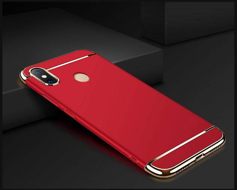 Redmi Note 5 Mewah Menyepuh Dgn Listrik Shockproof Kembali Casing Kover untuk Xiaomi Redmi Note 5