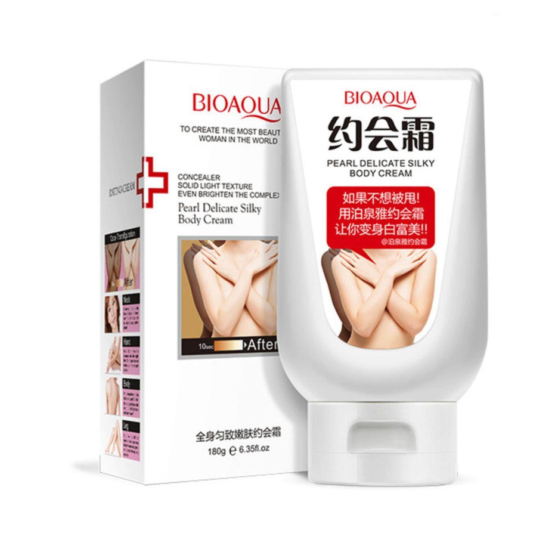 Fitur Ertos Body Cream Whitening Lotion Krim Pemutih Badan Skincare Bpom Original Bioaqua Pearl Delicate Silky 180g Bqy2362