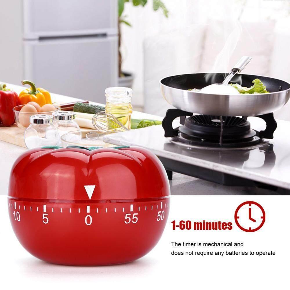 Berbentuk Tomat Mekanis 60 Menit Countdown Penghitung Waktu Dapur Memasak & Memanggang Helper (6.3X4