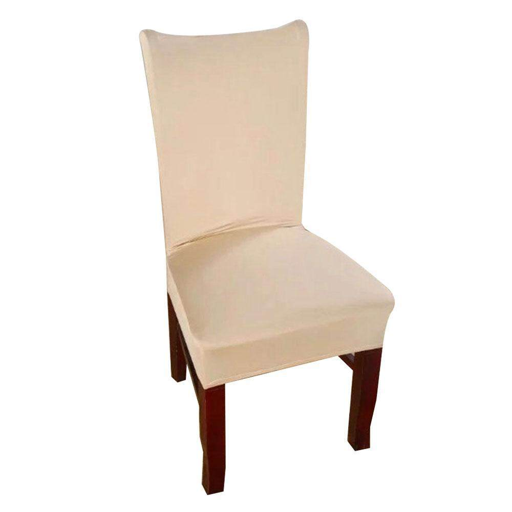 iooilyu 1 Piece 8 Solid Colors Polyester Spandex Dining Chair Covers For Wedding Party Chair Cover Stretch Dining Room Chair Slipcovers - intl