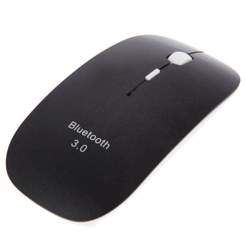 Slim 3D Mouse Bluetooth 3.0 Wireless Optical Mouse 1600dpi For Macbook Windows 7 XP Vista Laptop (Black)