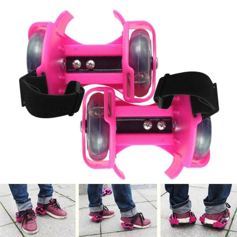 Mua JinGle 3-Color Light Small Whirlwind Pulley Adjustable Flash Wheel Roller Skating Shoes