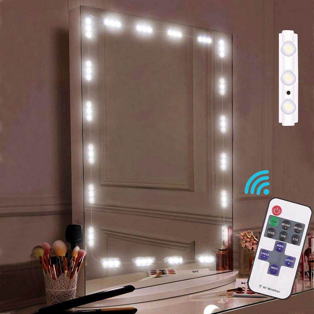 Womdee Makeup Mirror Light, Bathroom Vanity Light Kit,Vanity Mirror Light Kit For DIY Cosmetic Hollywood Make Up Mirror With Remote And Dimmer Switch 10FT 60LED