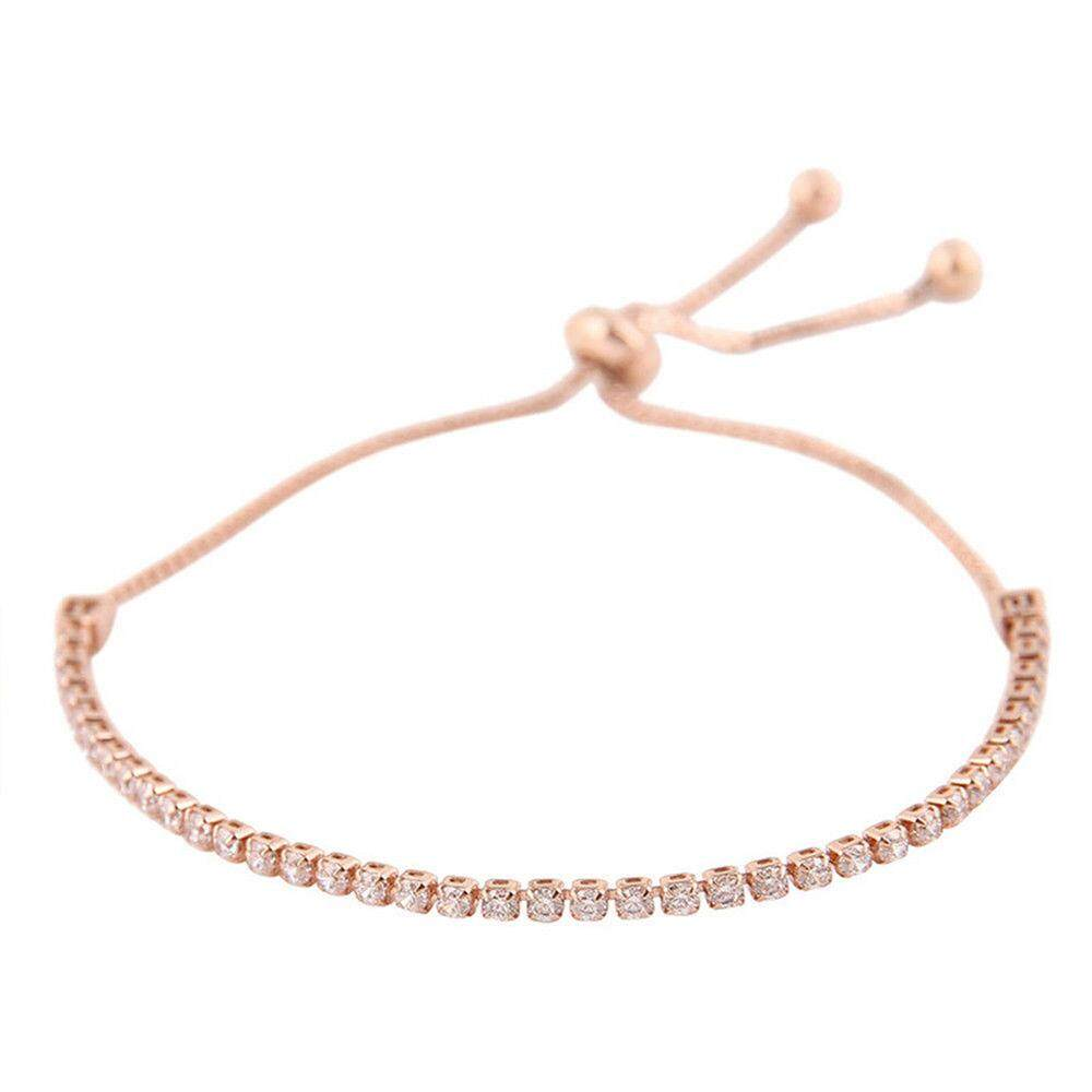 Oscar Toko Gelang Gelang Mawar Emas Kristal Berlian Aksesoris Perhiasan-Internasional