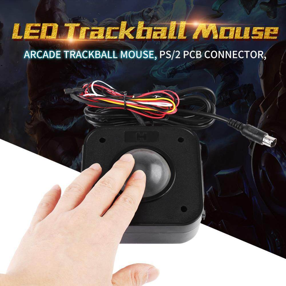 lluminated 4.5cm round arcade game lit LED trackball mouse Jamma pcb connector H