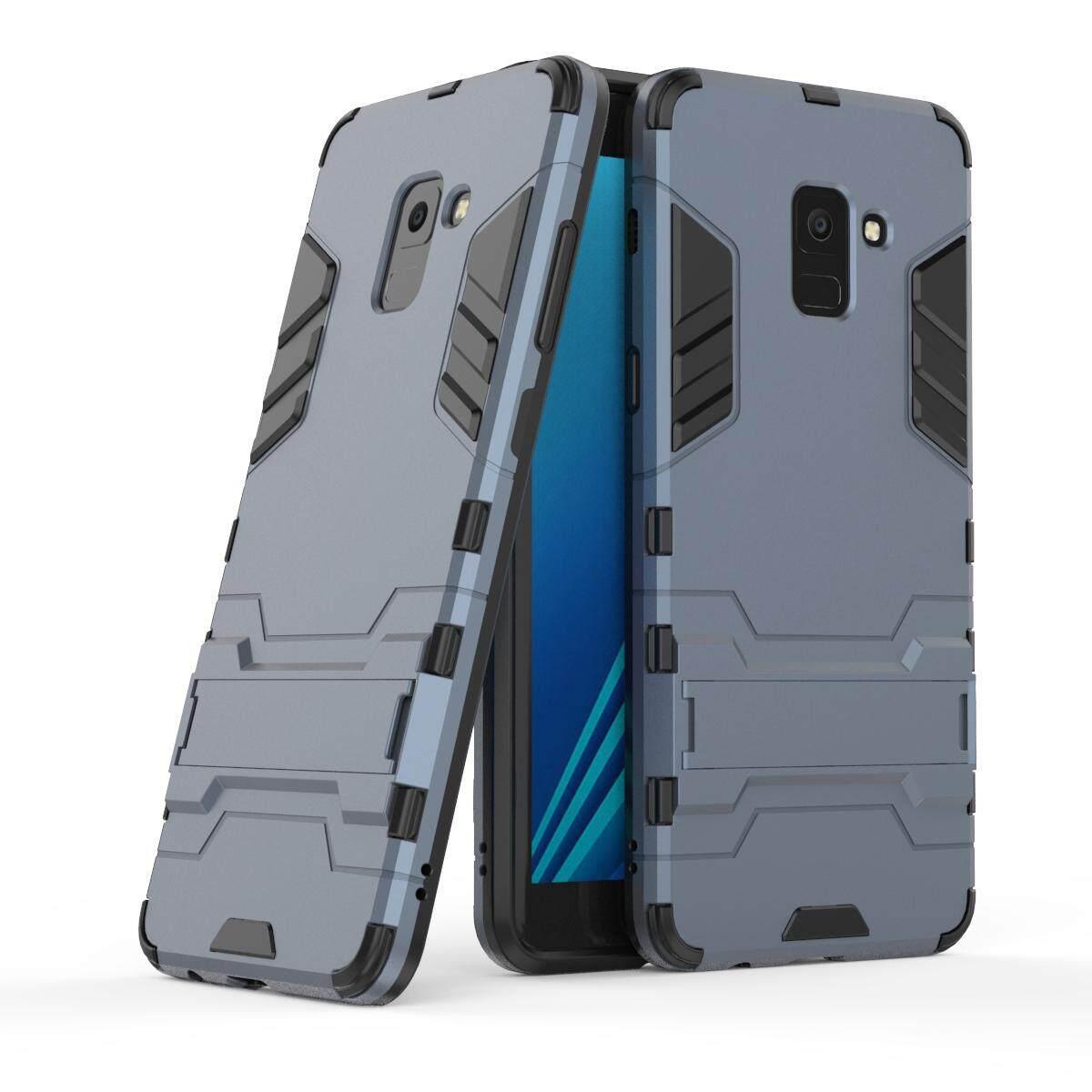 Samsung Galaksi A8 2018 Plus Case, bulan Case 2 Dalam 1 Hibrida Kasar Pelindung Case