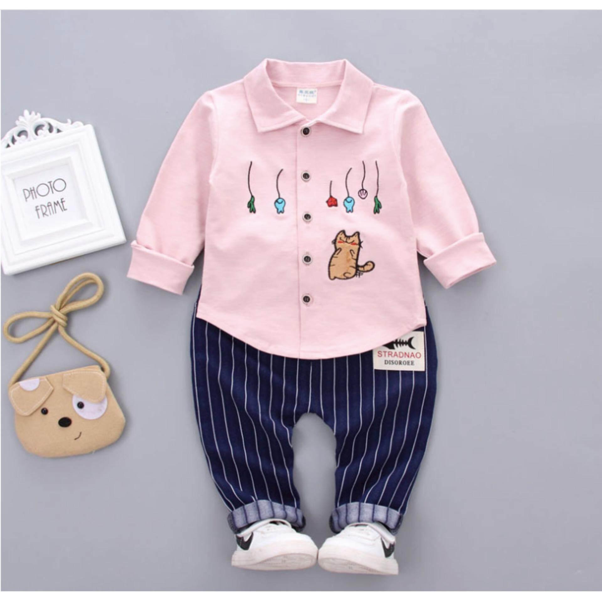 2017 new fashion spring autumn baby boys shirt trousers clothing set kids children boys clothing suit