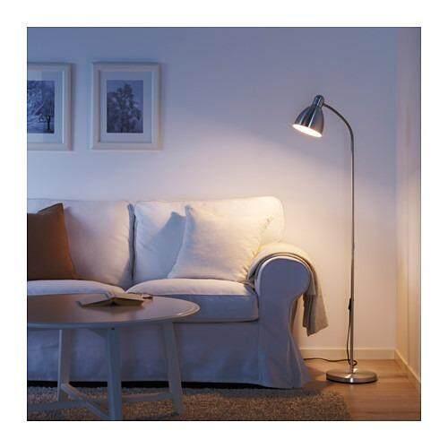 Ikea lersta light adjustable aluminium floor lamp reading lamp