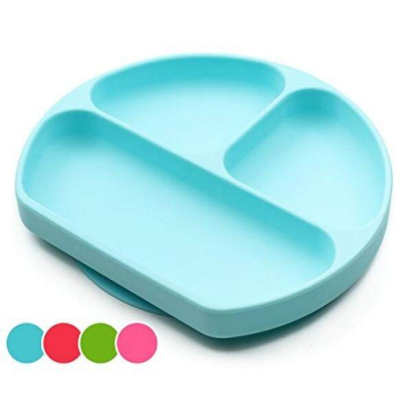 Suction Plates For Toddlers, Babies, Silicone Placemats For Kids Stick, Fits To Most High Chairs Tray And Tabel, Baby Dishes - Kids Plates + Bowls - Light Blue - intl