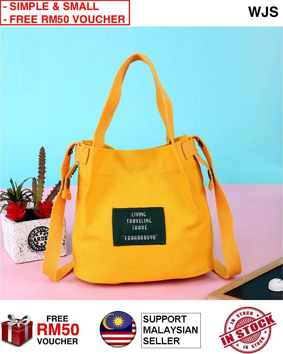 (SIMPLE & SMALL) WJS Korean Fashion Top Seller Premium Canvas Mini Fashion Sling Bag Handbag Hand Bag for Casual Dinner Party Vacation Shopping (FREE RM 50 VOUCHER)