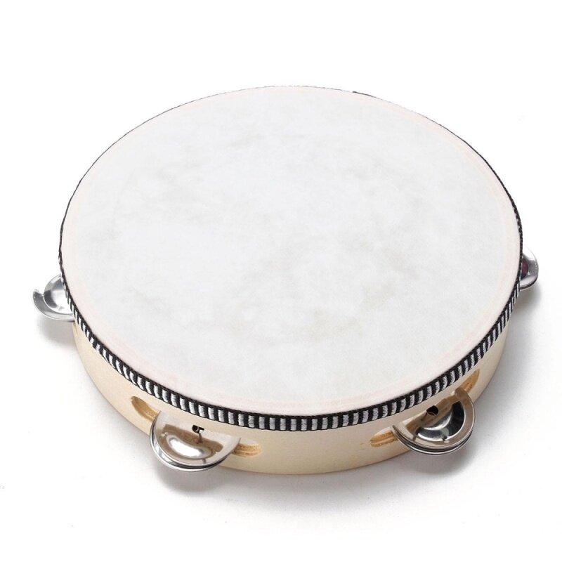 3 cái 8 Âm Nhạc Tambourine Tamborine Với Đầu Trống Tròn Bộ Gõ cho KTV Đảng-quốc tế