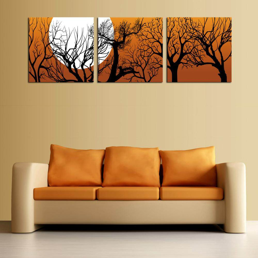 Kilimall: Cotyledon 3 Pannels 40*40cm No Frame Wall Art Picture Home ...