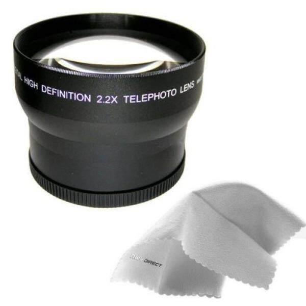 Sony Cybershot DSC-HX1 Adalah 2.2x Tinggi Definisi Lensa Telephoto Dibuat dengan Optik + Cincin Adaptor Lensa (72 Mm) + Nwv Direct Mikro Serat Pembersih Kain-Internasional