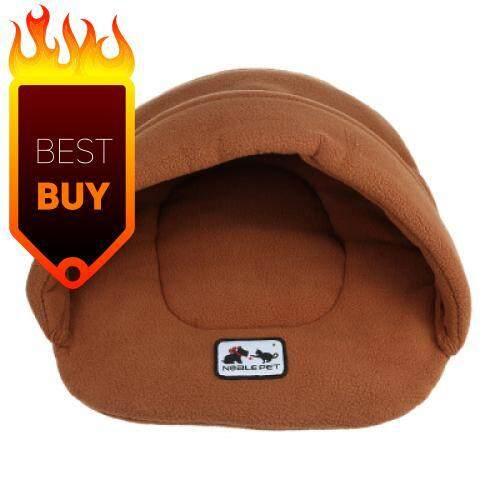 Soft Warm Cat Dog Bed House Pet Sleeping Bag (CAMEL BROWN)