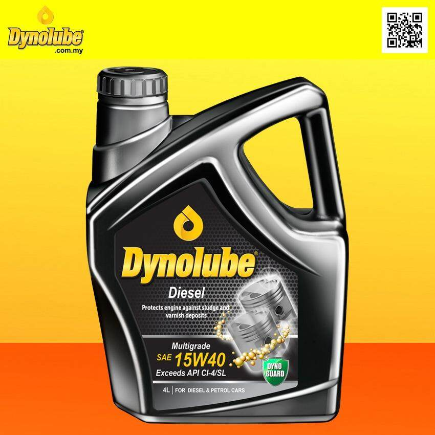 Dynolube 5W50 SN/CF Fully Synthetic 4Liter (For Turbo Engine) Engine Oil FREE 1 X T-Shirt (E)