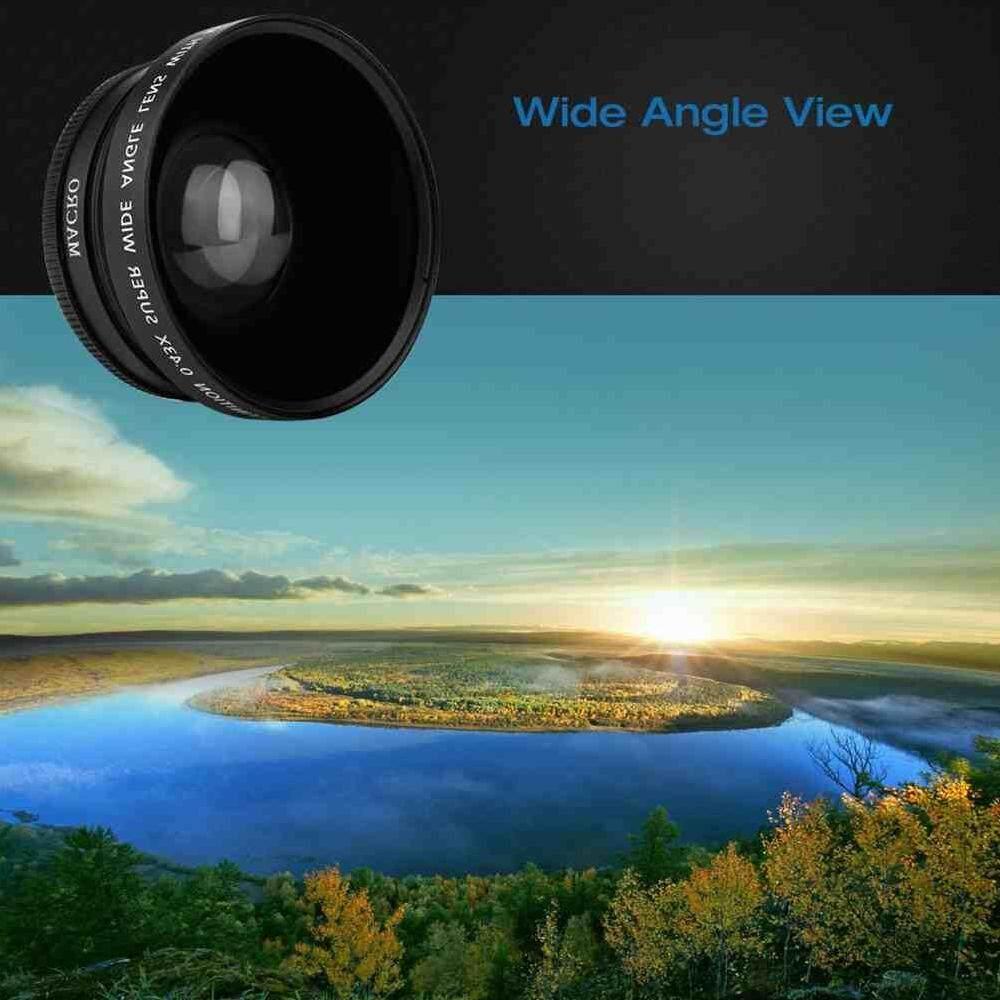 Liyc 72 Mm HD 0.43x Makro Sudut Lebar Lensa Konversi untuk Canon Nikon Kamera Sony-Intl