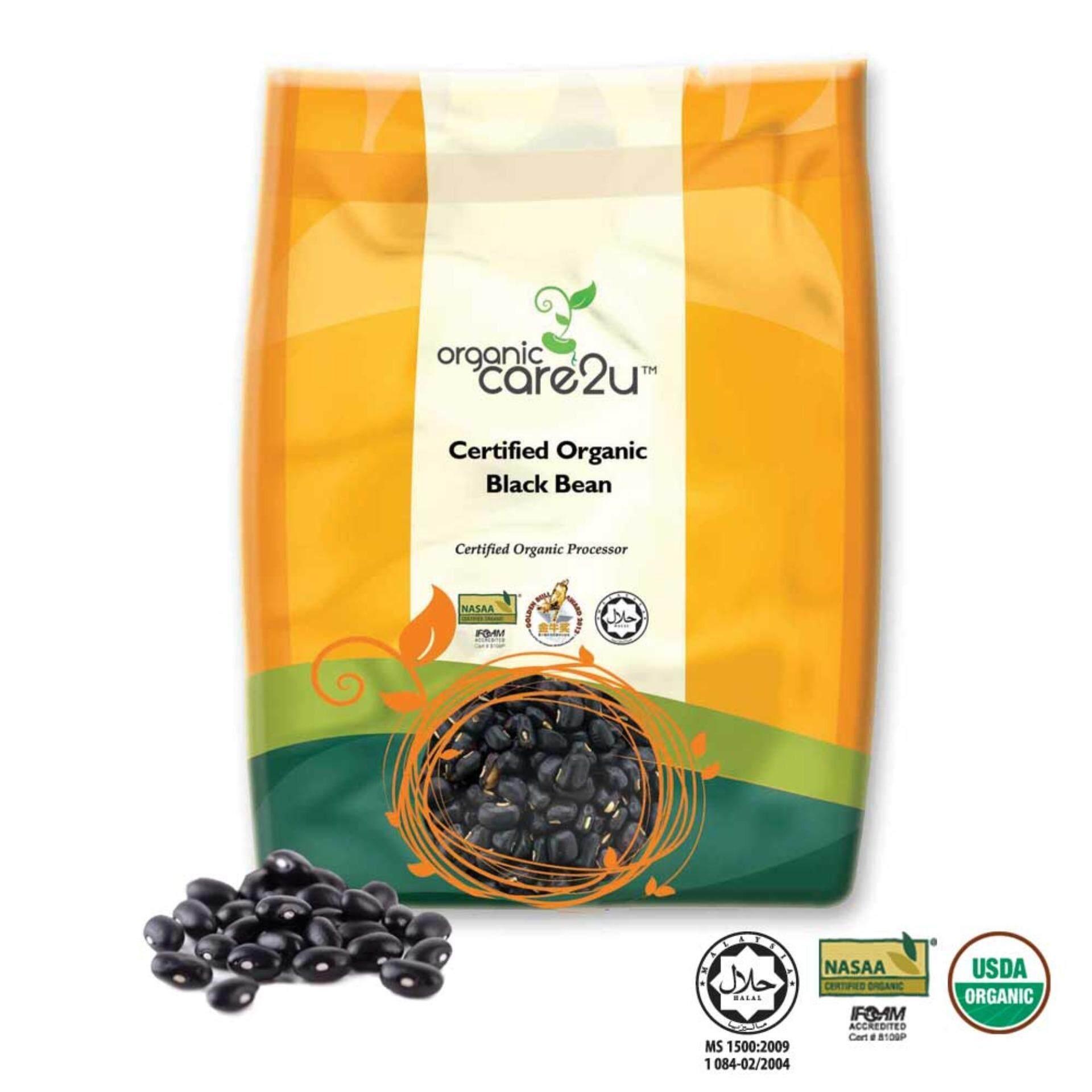 Organic Care2u Organic Black Bean with Green Kernel (400g)