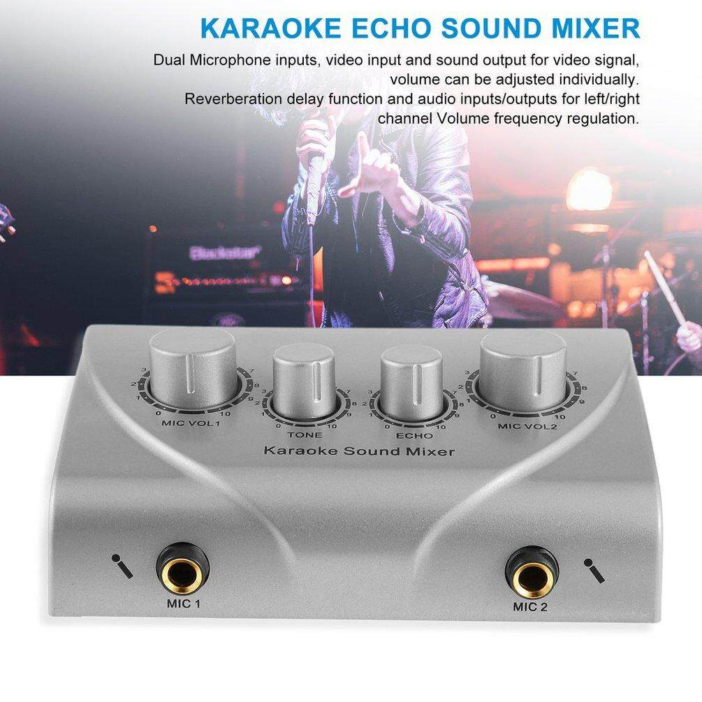 Elec เสียงคาราโอเกะแบบมืออาชีพเสียงระบบมินิดิจิทัลแบบพกพาเสียงเครื่องคาราโอเกะ Echo ระบบผสม.