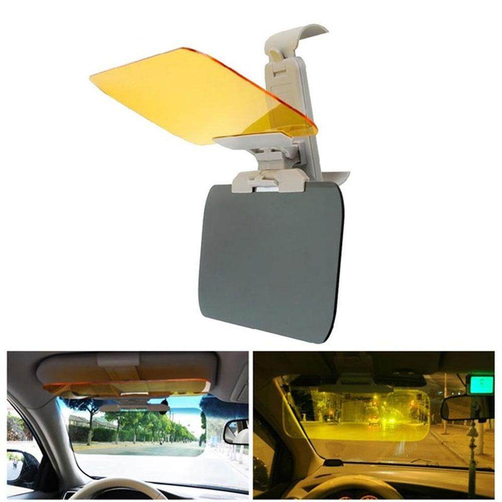 Niceeshop 2 In 1 Hd Vision Car Sun Anti-Uv Block Visor, Protection Driving Anti-Dazzle Sunshade Mirror Goggles Shield Board Day And Night Anti-Glare Visor - Intl By Nicee Shop.