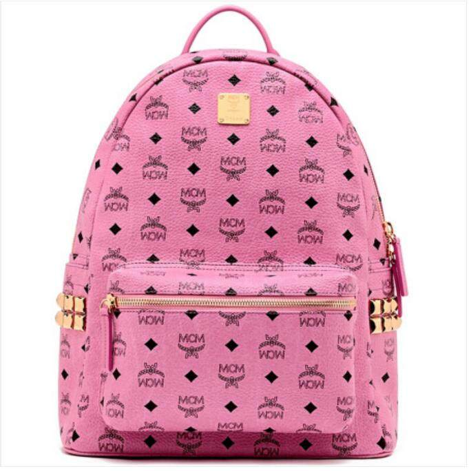 Mcm Medium Rivets Backpack Pink Mmk3ave38 Pk01