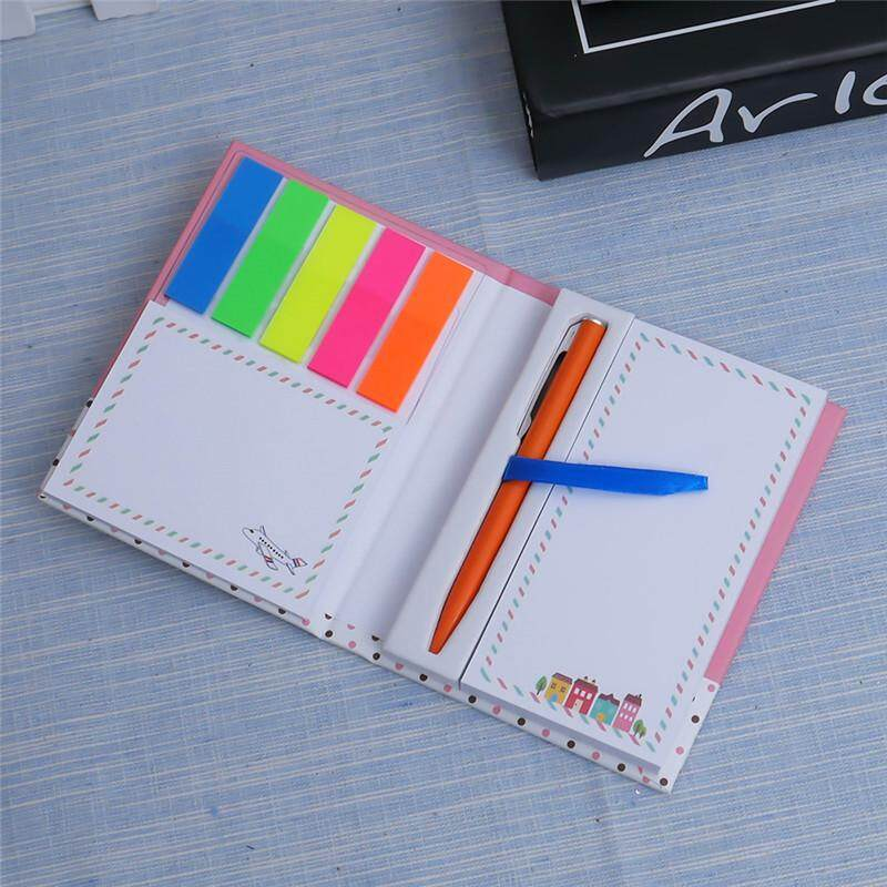 Korean Creative Tower Hardcover Combine Memopad Notepad Stationery Diary Notebook Office School Supplies With Pen
