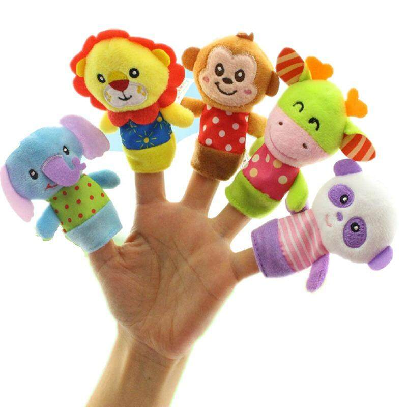 [Little B House] Happy Monkey Animals Finger Puppets Story Telling (5 pcs) -BT42
