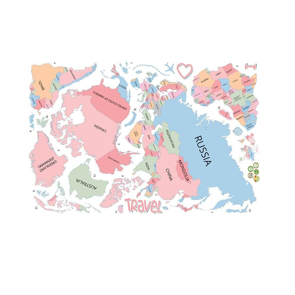 Wall stickers for sale wall decals prices brands review in wall sticker large colorful world map sticker educational kids room countries decal mural art home decor gumiabroncs Choice Image