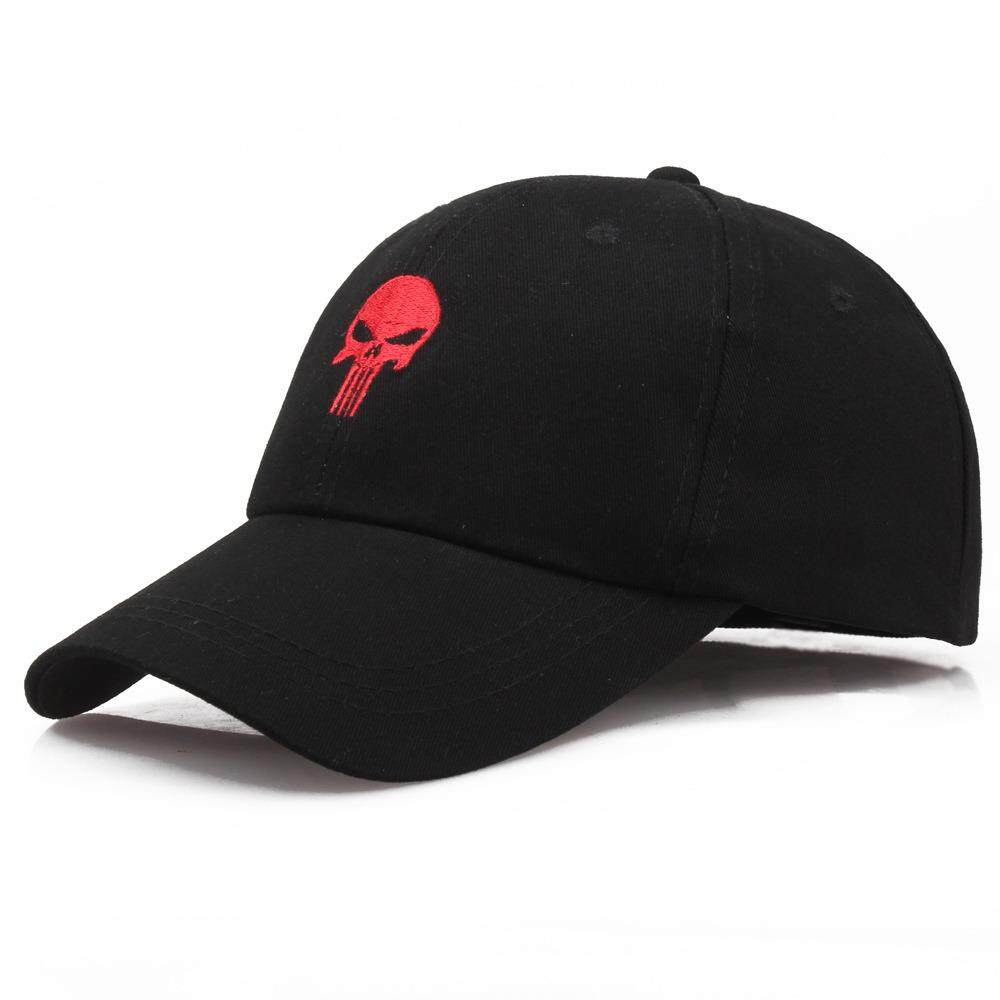 Hình ảnh ZYSK Black Cool Skull Men/Women Baseball Caps The Punisher Tactical Cap Personality Embroidery Sports Outdoor Snapback Hats - intl