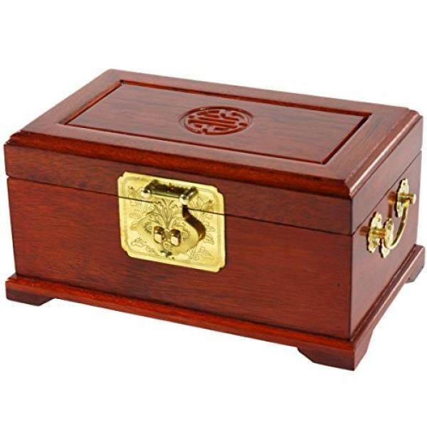 Mebel Oriental Rosewood Perhiasan Kotak-Madu-Internasional