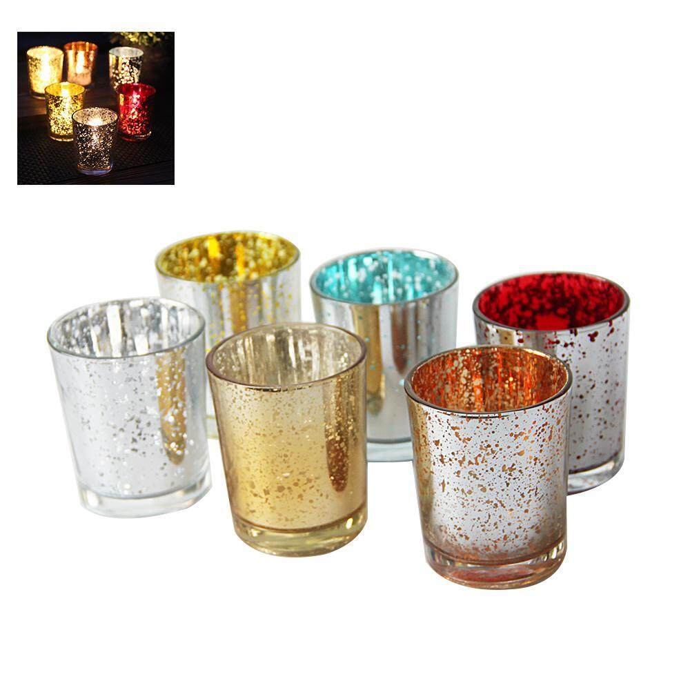 Kobwa 6PCS Simple Candlestick Home Decoration Candle Holders Home Party Bar Wedding Decor - intl