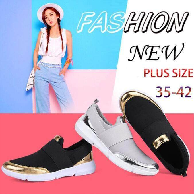 Low Cost Cc Plus Size 35 42 Fashion Casual Shoes Canvas Sneakers Breathable Flat Shoes Women Slip On Loafers